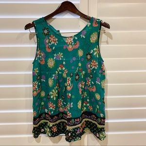 One Fine Day Floral Anthropologie Tank Top